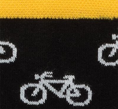 Socken mit Fahrradmotiv