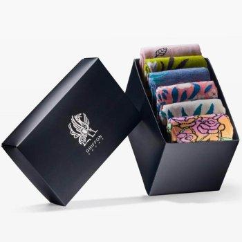 Bunte Socken Griffon Flowers Box 6 Paar