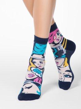 Bunte Damen Socken Conte Happy mit Comics