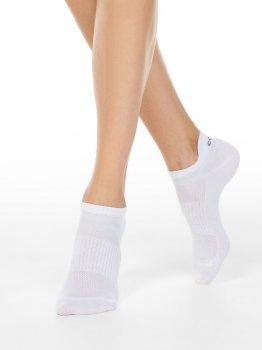 Sneakersocken für Damen, Weiß mit Lasche, CONTE