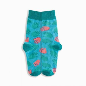 Griffon Bunte Socken Damen Love Box Farbe mint